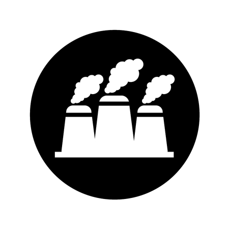 generate: nuclear plant chimney icon vector illustration design Illustration