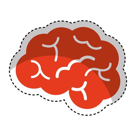 brain organ human icon vector illustration design