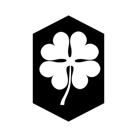 patrick's: clover leaf isolated icon vector illustration design