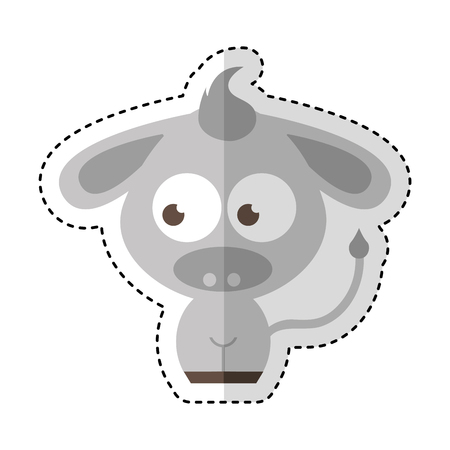 donkey character isolated icon vector illustration design