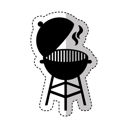 Grilled barbeque isolated icon vector illustration design.