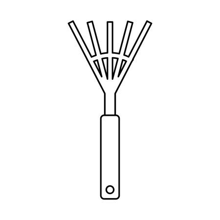 garden rake isolated icon vector illustration design Illustration