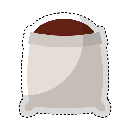 grappling: sand bag isolated icon vector illustration design Illustration