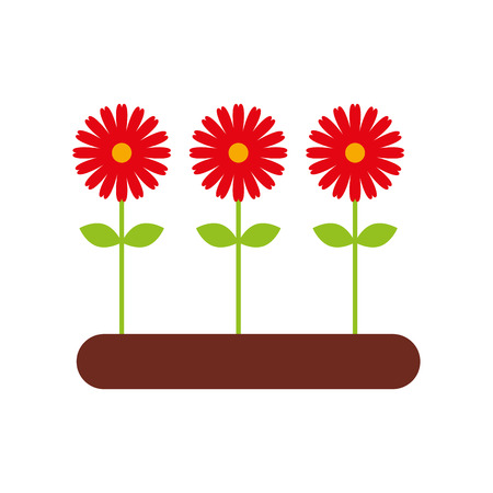 Cultivated flower garden icon vector illustration design