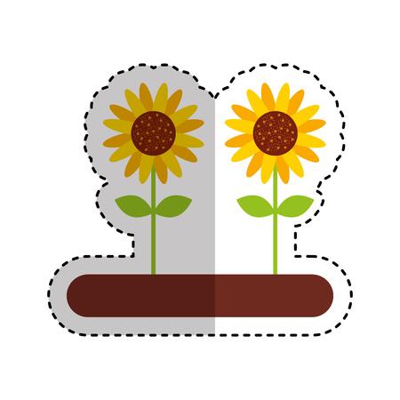 Cultivated flower garden icon vector illustration design