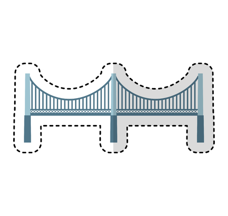 new york bridge isolated icon vector illustration design