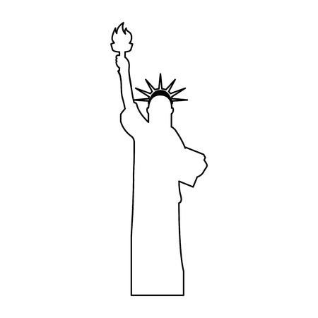 iconic architecture: liberty statue isolated icon vector illustration design