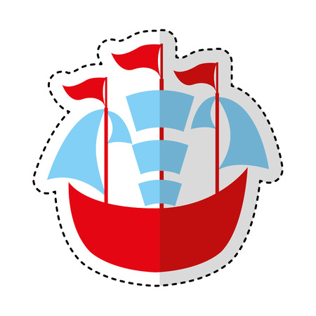 sailboat ship isolated icon vector illustration design Illustration