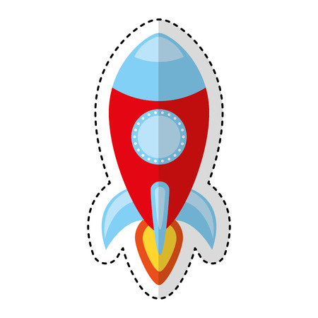 rocket spaceship isolated icon vector illustration design Illustration