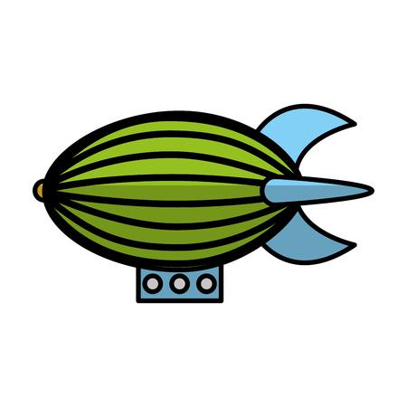 Zeppeling Fahrzeug isoliert Symbol Vektor-Illustration Design