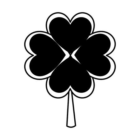 clover leaf plant icon vector illustration design