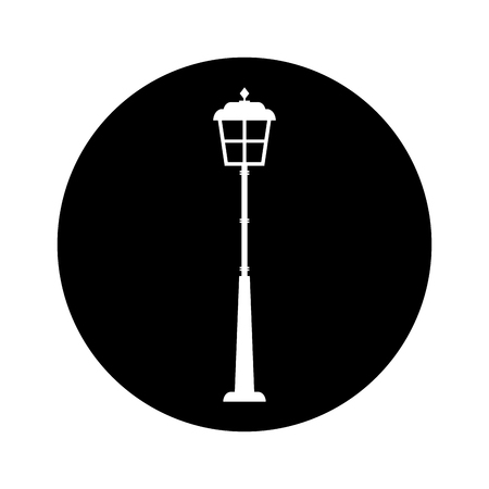 lantern park isolated icon vector illustration design