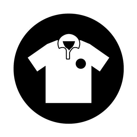 tourney: golf team shirt icon vector illustration design