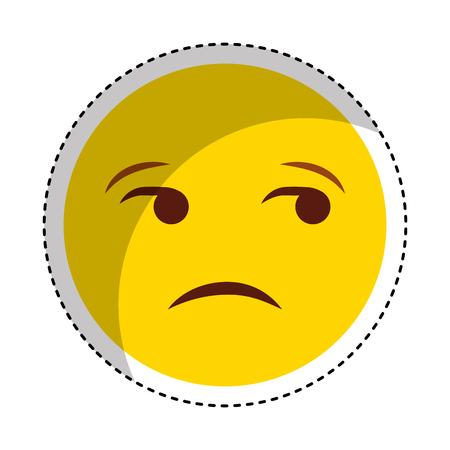 Comic face emoticon isolated icon vector illustration design.