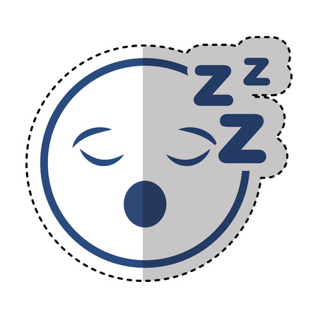 comic face emoticon isolated icon vector illustration design Illustration