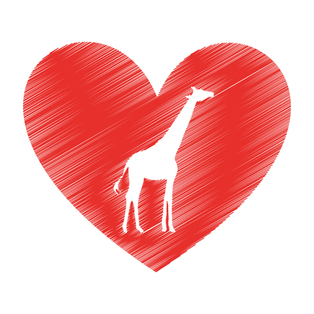giraffe animal isolated icon vector illustration design Illustration