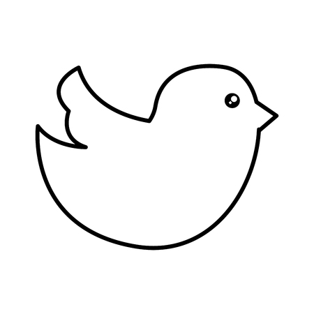 social bird isolated icon vector illustration design