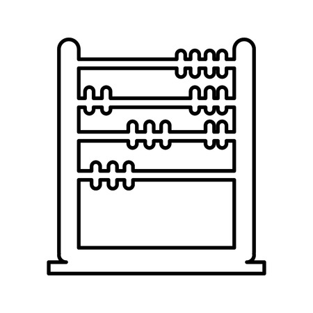 abacus education isolated icon vector illustration design Reklamní fotografie - 74908104