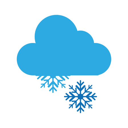 snow storm weather isolated icon vector illustration design