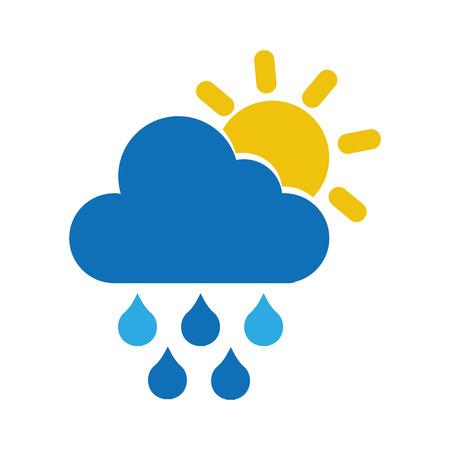 rain weather isolated icon vector illustration design Illustration
