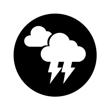 electric storm weather isolated icon vector illustration design