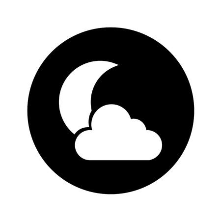 night cloudy weather isolated icon vector illustration design Illustration