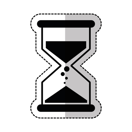 sandglass time isolated icon vector illustration design Illustration