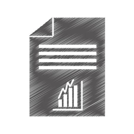 papel documento con estadísticas vector ilustración diseño Vectores