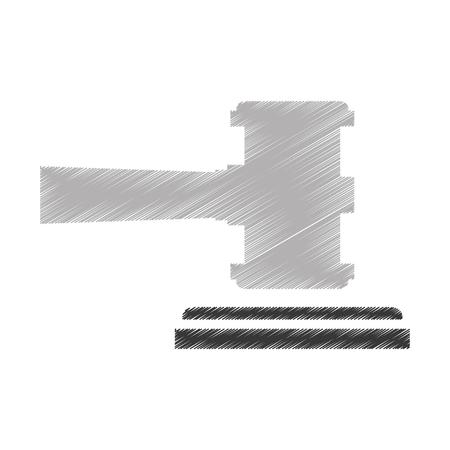小槌正義分離アイコン ベクトル イラスト デザイン