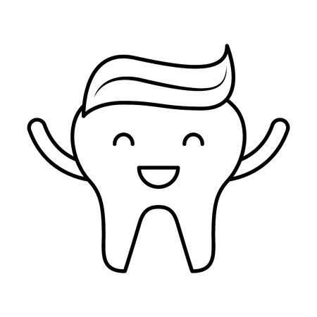 tooth with toothpaste character icon vector illustration design
