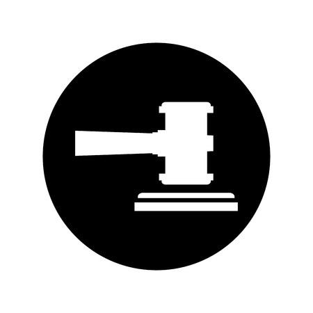 gavel justice isolated icon vector illustration design Çizim