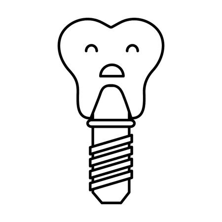 Zahnimplantat Zeichen Symbol Vektor-Illustration Design Standard-Bild - 74909241