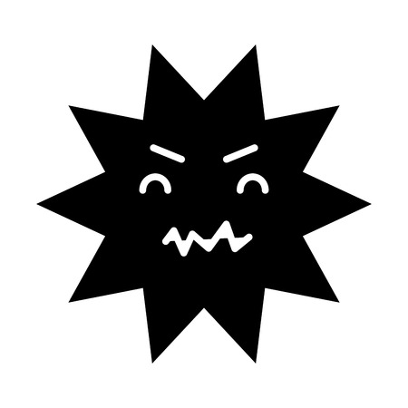 dientes sucios: caries dental comic character vector illustration design