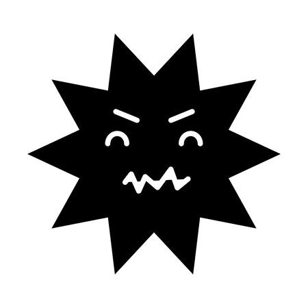 caries dental comic character vector illustration design