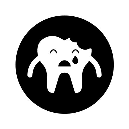 Broken zahn weinen Zeichen Symbol Vektor-Illustration Design Standard-Bild - 74909260