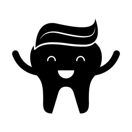 Zahn mit Zahnpasta Zeichen Symbol Vektor-Illustration Design Standard-Bild - 74909281