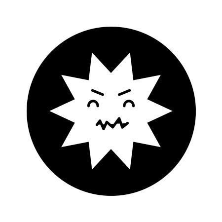 dientes sucios: diseño del ejemplo del vector del carácter cómico dental de la carie