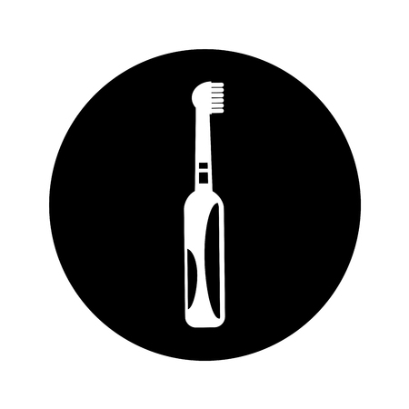 electric toothbrush dental isolated icon vector illustration design