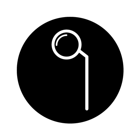 Dental mirror isolated icon vector illustration design