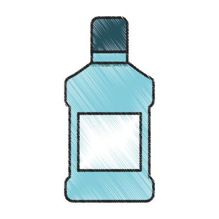enjuague bucal: mouthwash bottle isolated icon vector illustration design