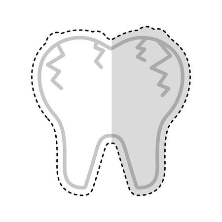Gebrochener Zahn isoliert Symbol Vektor-Illustration Design Standard-Bild - 74909379