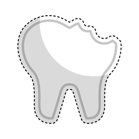 Gebrochener Zahn isoliert Symbol Vektor-Illustration Design Standard-Bild - 74909382