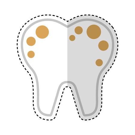 Zahn mit Flecken isoliert Symbol Vektor-Illustration Design Standard-Bild - 74909384