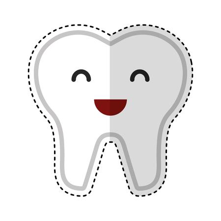 Glücklich gesunde Zahn Zeichen Symbol Vektor-Illustration Design Standard-Bild - 74909391