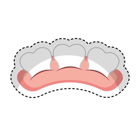 Zahn mit isoliertem Symbol Vektor-Illustration, Design, Gummi Standard-Bild - 74909394
