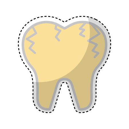 Gebrochener Zahn isoliert Symbol Vektor-Illustration Design Standard-Bild - 74909440
