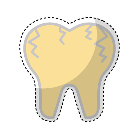 broken tooth isolated icon vector illustration design