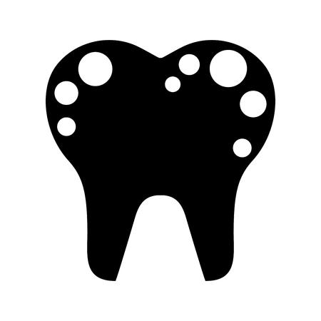 Zahn mit Flecken isoliert Symbol Vektor-Illustration Design Standard-Bild - 74909456