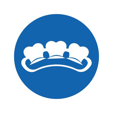 Zahn mit isoliertem Symbol Vektor-Illustration, Design, Gummi Standard-Bild - 74909301