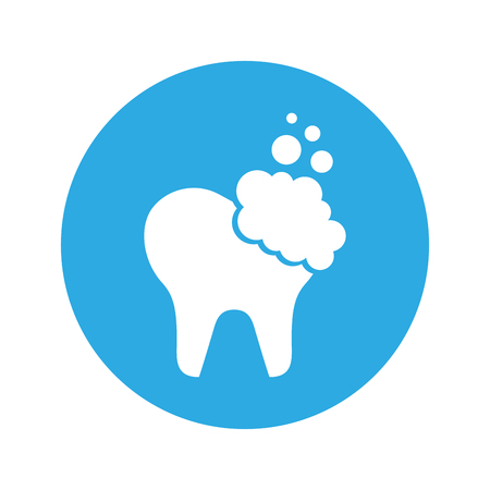 Zahn sauber isoliert Symbol Vektor-Illustration Design Standard-Bild - 74909304